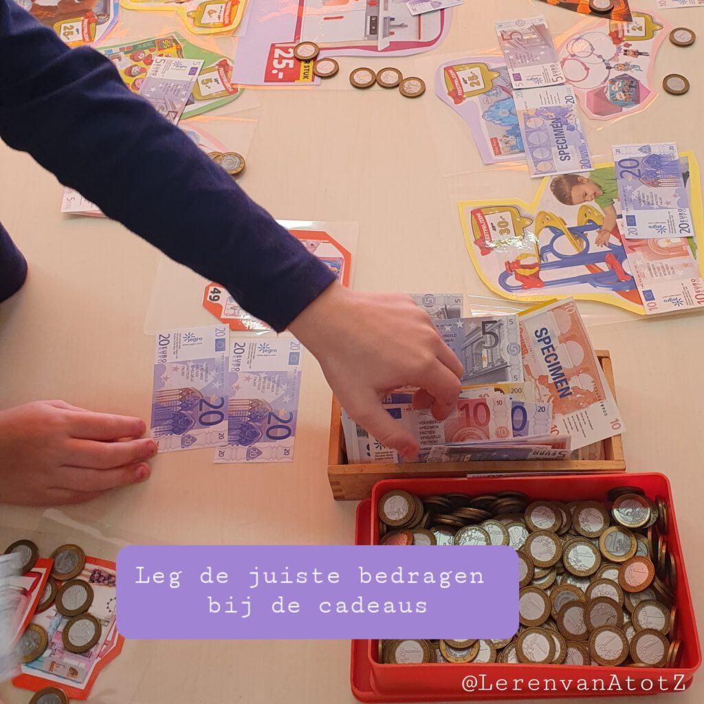 Rekenen met geld sinterklaas groep 3 4 5 6