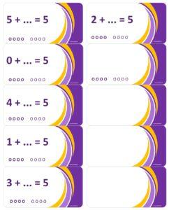 LeerKaartjes bij het getal 5 sommen memoriseren beter onthouden