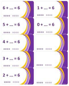 LeerKaartjes bij het getal 6 sommen memoriseren beter onthouden (2)