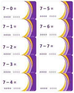 LeerKaartjes bij het getal 7 sommen memoriseren beter onthouden