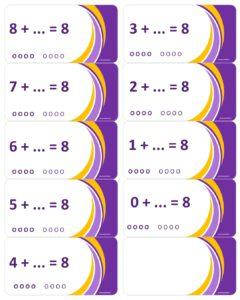 LeerKaartjes bij het getal 8 sommen memoriseren beter onthouden