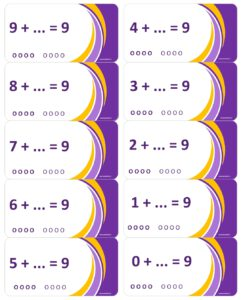 LeerKaartjes bij het getal 9 sommen memoriseren beter onthouden
