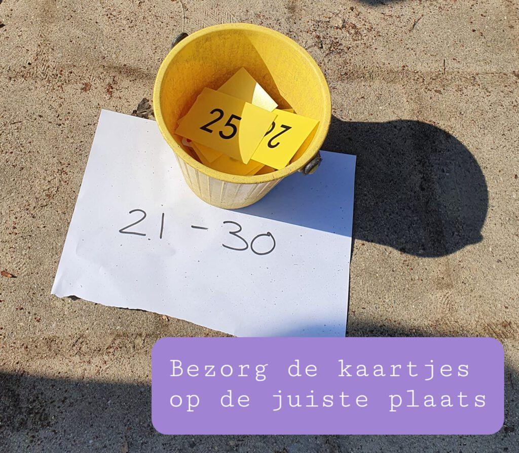 Buitenles Getalbegrip plaatsing getallenlijn bewegend leren rekencircuit getalbegrip groep 3 4