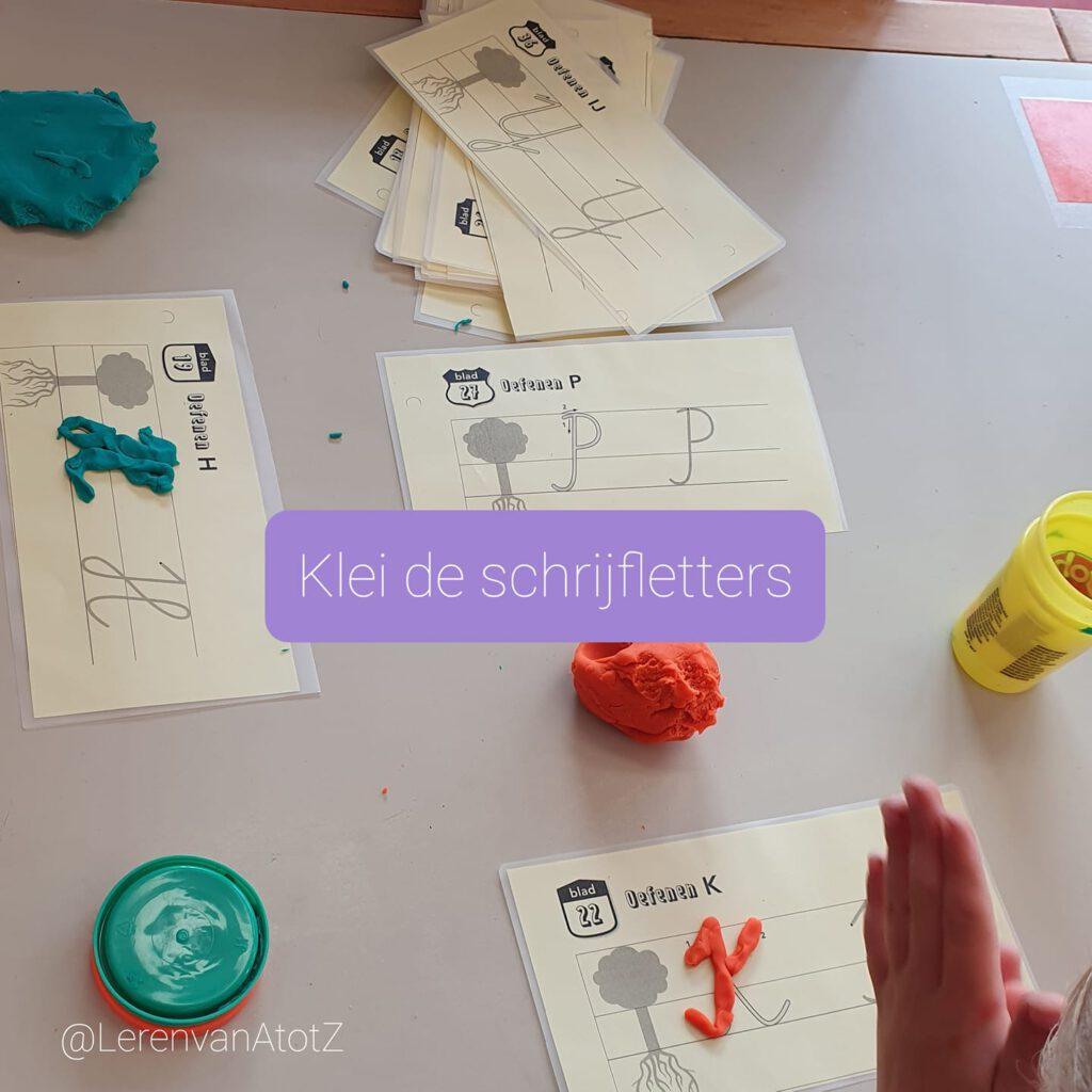 Klei de letters taalcircuit groep 3 4 bewegend leren