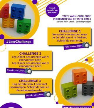 🐕🍀🥞👨👩👧👧Zoek, leg en zeg de tafel van 4!👨👩👧👧🥞🍀🐕 Leer de tafels door te doen! #thuisonderwijs #lerendoortedoen #leerchallenges Lees mijn allereerste blog over 'tafels leren door te doen' via de link in bio