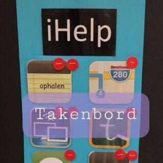 Wij hadden zo'n takenbord gebaseerd op een iPhone in groep 7,8. Gemaakt door m'n creatieve collega's. Het werkte geweldig!   Helaas hebben we geen foto meer, maar hebben we de foto van juf Andrea via Pinterest gebruikt.   #taakverdeling #eigenaarschap #bovenbouw   www.lerenvanAtotZ.nl