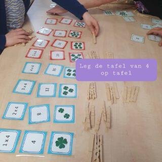 We leggen de tafel uit volgens de principes van het handelingsmodel om te rekenen met begrip.  Deze kaartjes zijn gemaakt door Marian van @marian.kijkwatikalkan en te verkrijgen op www.spelenmetspellen.nl  #lerendoortedoen #spelendleren #rekenen  www.lerenvanatotz.nl