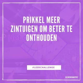 Kijk, luister, ruik, voel en onthoud... #leerchallenge #lerendoortedoen #bewegendleren www.lerenvanatotz.nl