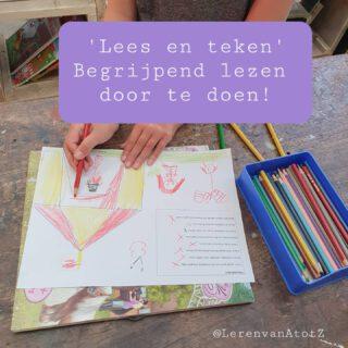 📚BEGRIJPEND LEZEN DOOR TE TEKENEN✏️  De leerlingen brengen begrijpend lezen in de praktijk door te lezen en dat vervolgens te tekenen.   Deze bladen zijn van juf-milou.nl . Verschillende online juffen hebben dit soort bladen gemaakt. Ze zijn te vinden onder de namen: lees en kleur, lees en teken of tekendictee. Ook de tekendictees voor kleuters zijn prima te gebruiken in de hogere groepen.   #lezen #begrijpendlezen #lerendoortedoen #groep34  www.lerenvanAtotZ.nl