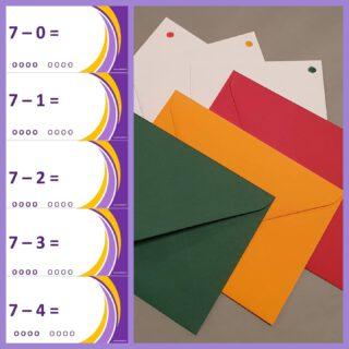 Om sommen tot 10 echt nooit meer te vergeten hebben wij LeerKaartjes ontwikkeld. ✂️Knip de kaartjes uit. ✉️ Doe ze in de rode envelop. 🚦 Heb je de som goed? Kleur een rondje. 🚦 Na 4 keer naar de oranje envelop. 🚦 Na 4 weken naar de groene envelop.  🎉 Die som ken je!  Dit kan natuurlijk alleen wanneer de fases van begrip goed doorlopen zijn. Dit kan met Leerchallenges, buitenlessen, rekencircuits en natuurlijk de methodelessen.  Download de kaartjes en de achtergronden hier gratis: https://www.lerenvanatotz.nl/leerkaartjes/  #rekenen #automatiseren #school #groep3