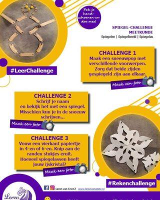 In het kader van het winterweer... ☃️❄☃️ Een spiegel-challenge over ijskristallen en sneeuwpoppen ❄☃️❄ www.lerenvanatotz.nl #winter2021 #thuisonderwijs #coderood